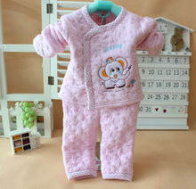 Retail baby clothes newborn autumn and winter quality underwear suit long sleeve baby wear infant thermal