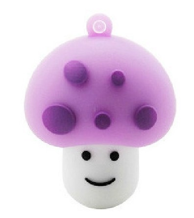 Enough Cartoon Cute Purple Mushroom Head 4GB 8GB 16GB 32GB Flash Memory Stick Drive S4 BB(China (Mainland))