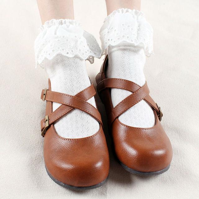 Япония лето стиль женщины кружева носки симпатичные дамы девушки принцесса в трубке носки с кружевом очаровательны хлопок носок для женщин
