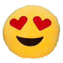 Funny Cute emoji pillow plush pillow coussin cojines emoji gato Round Cushion emoticonos smiley Pillows Stuffed Plush almofada(China (Mainland))