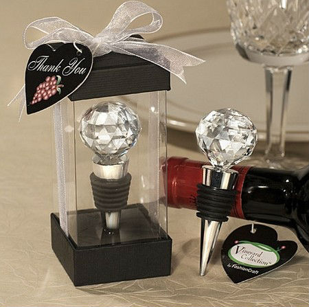 GAGA ! crystal ball bottle stoppers wedding gift /Creative wedding gift/gift box/, 24pcs/lot, QQ-4(China (Mainland))