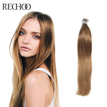 Rechoo Top quality I-tip remy hair extensions straight Brazilian human hair pre-bonded hair extensions 1g/pcs I-tip Hair(China (Mainland))