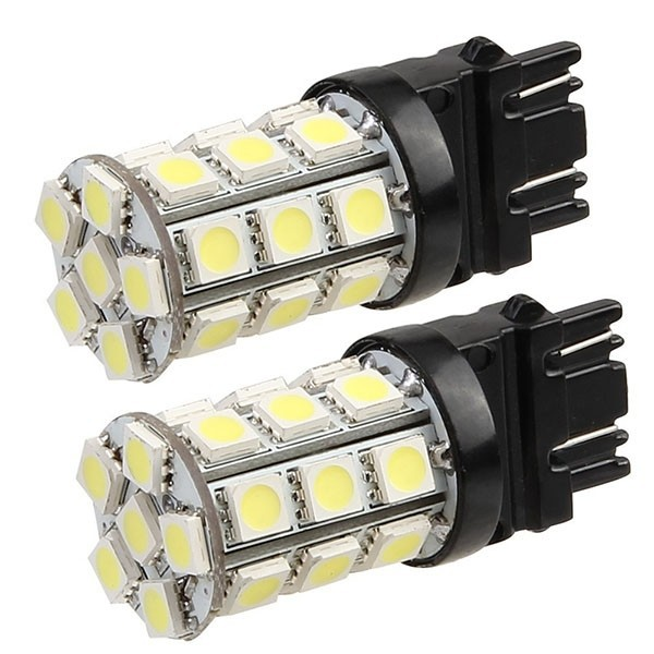 2pcs/lot T20 3157 4057 5050 SMD 27 Pure White LED Brake Tail Back Up Light Bulb Lamp freeshipping dropshipping<br><br>Aliexpress