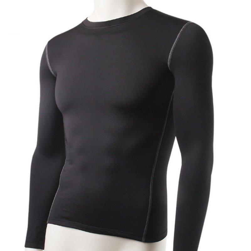 Fashion Winter Men Slim Fit Long Sleeve Thermal Underwear Basic Tops Undershirt