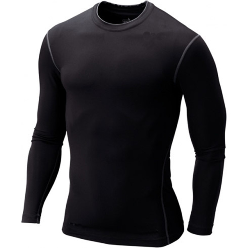 Mens Boys Compression Body Base Layer Thermal Under Top Long Sleeve Shirt Skins Gear Cool Dry Size S-XXXL Free Shipping(China (Mainland))