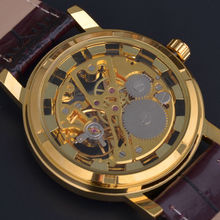 2015 Brand Winner Luxury Fashion Casual Stainless Steel Men Mechanical Watch Skeleton Hand Wind Watch For