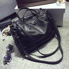 women leather handbag 2016 fashion black motorcycle large tote bag sac a main femme de marque