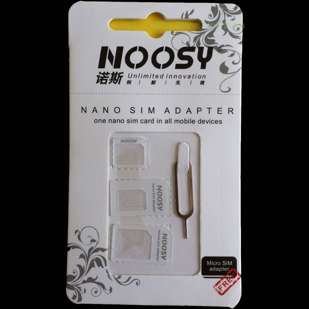 Best Price 4 In 1 Nano SIM Adapter For Iphone 4/4s/5 Nano to Micro Mini Sim With Retail Box with 10sets /lot(40pcs),Free Ship