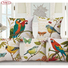 Painting Of Flowers And Birds Cushion Throw Pillows