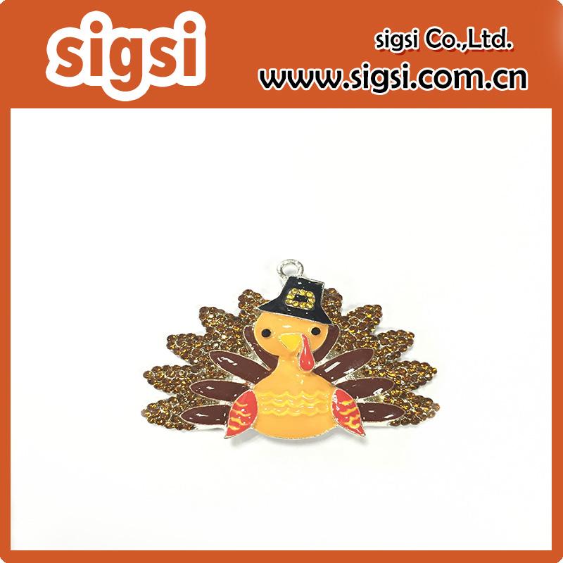 Professional factory cheap wholesale turkey crystal rhinestone pendant for halloween(China (Mainland))