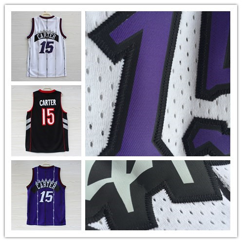 Гаджет  Sold on the cheap New Toronto #15 Vince Carter raptors white Black And Purple Retro  Basketball Jersey None Спорт и развлечения