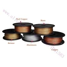 Newest, 3D Printer Metallic Filament,40% Of Metal Content Filaments -Red Copper /Brass /Bronze /Copper /Aluminum, 1.75/3mm(China (Mainland))