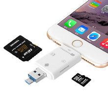 Hot 3 1 iFlash Drive USB Micro SD SDHC TF lector de tarjetas de OTG escritor para el iPhone 5 / 5S / 6 / 6 plus / ipad / itouch / todo celulares Android(China (Mainland))