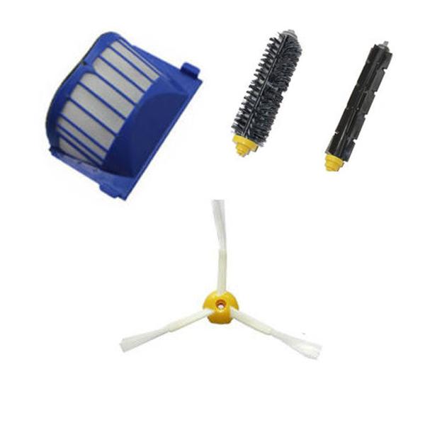 For iRobot Roomba 600 Series AeroVac Filter + Brush 3 armed kit 620 630 650 660(China (Mainland))