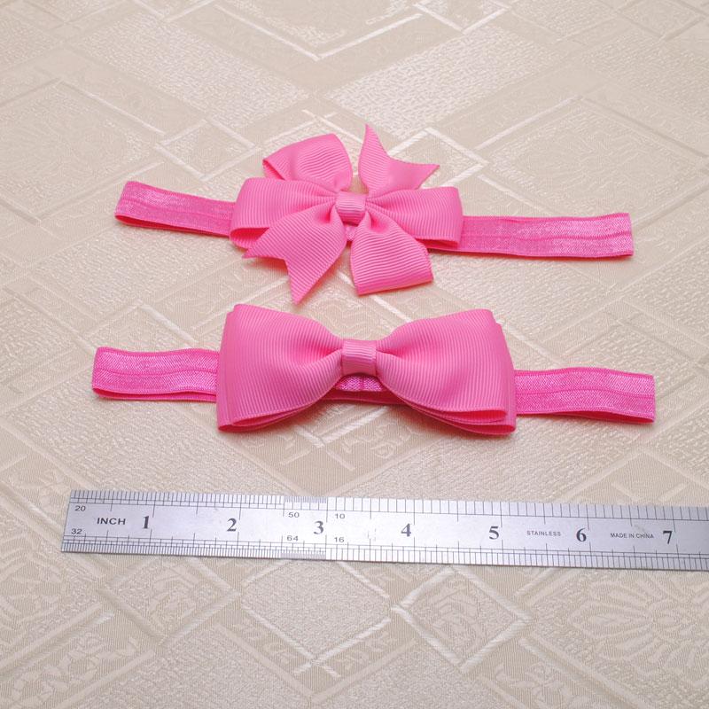 2pcs new big kids infant baby girls head wraps hair elastic bands ribbon bows tiara headbands satin flower hairband headwrap(China (Mainland))
