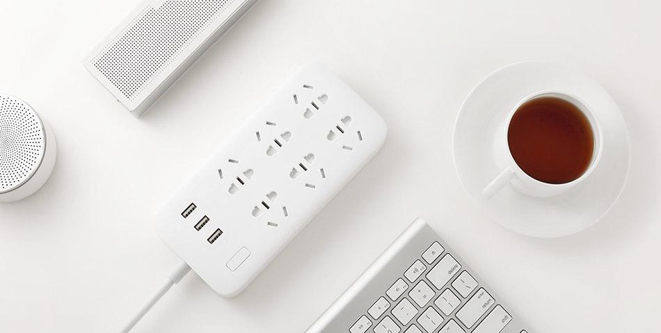 Original Xiaomi Smart Power Strip 2.1A Fast Charging 3 USB Extension Socket Plug 6 Standard Socket Adapter (8)