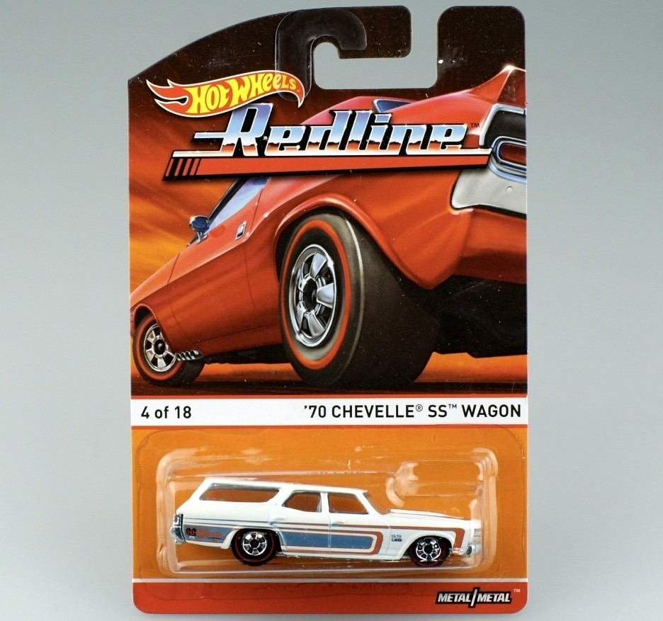 HotWheels Die-casts Heritage REDLINE '70 CHEVELLE SS WAGON/Toy/Mannequin Automobile 4of18