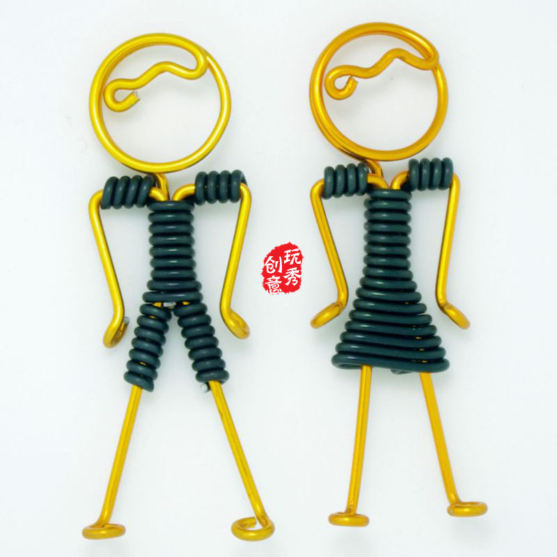 free shipping keychain Handicraft lovers hand robot pendant pendant wire spring festival temple fair hot products(China (Mainland))