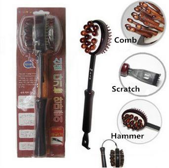 Massager Hammer-Multifunctional Hand Held Cellulite Massager Hammer Body Stress Relief Massager Scratcher Hammer Black 44CM(China (Mainland))