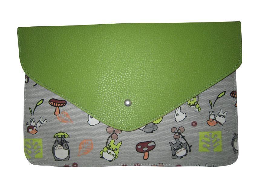 340# Free shipping 4 color printing Totoro anime cartoon fashion clutch bag(China (Mainland))