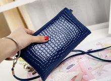 2015 Fashion long design stone pattern Wallet Ladies' Women's Purses Handbags day Clutch zipper mini shoulder messenger bags