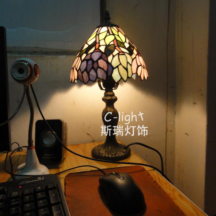 Tiffany lamps lighting fixtures European children's room lamp bedroom lamp lotus mini shipping(China (Mainland))
