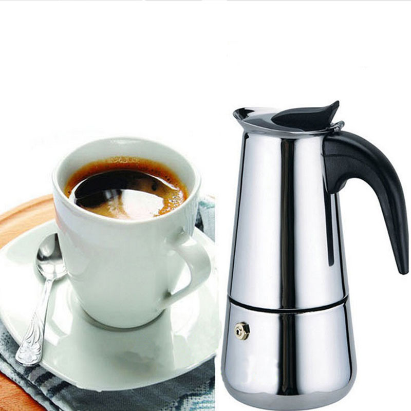 New 2 Cup Stainless Steel Moka Espresso Latte Percolator Stove Top Coffee Maker Pot #52419(China (Mainland))