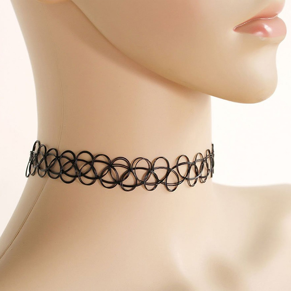 Fast shipment jewelry tattoo choker necklace Fishing Line weave gift for women girl lovers 10pcs(China (Mainland))