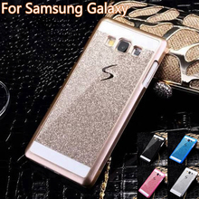 Luxury Bling Sparkle Shinning Back Cover Case Hard PC For Samsung Galaxy S3 S4 S5 Mini S6 S7 edge A3 A5 A7 A310 A510 Glitter(China (Mainland))