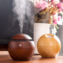 Mini Portable Mist Maker Aroma Essential Oil Diffuser Ultrasonic Aroma Humidifier Light Wooden USB Diffuser For Home Office(China (Mainland))