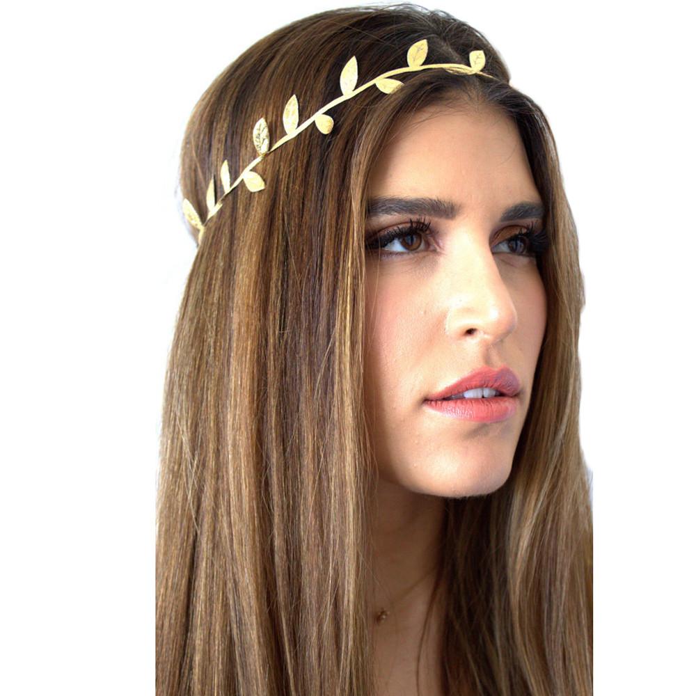 1pcs Cute Headband Bronzing Leaves Women Headband Elastics For Girl Hair Decoration Free shipping #88(China (Mainland))