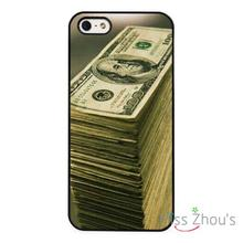 Stack $100 Dollar Bills Cash back skins mobile cellphone cases for iphone 4/4s 5/5s 5c SE 6/6s plus ipod touch 4/5/6