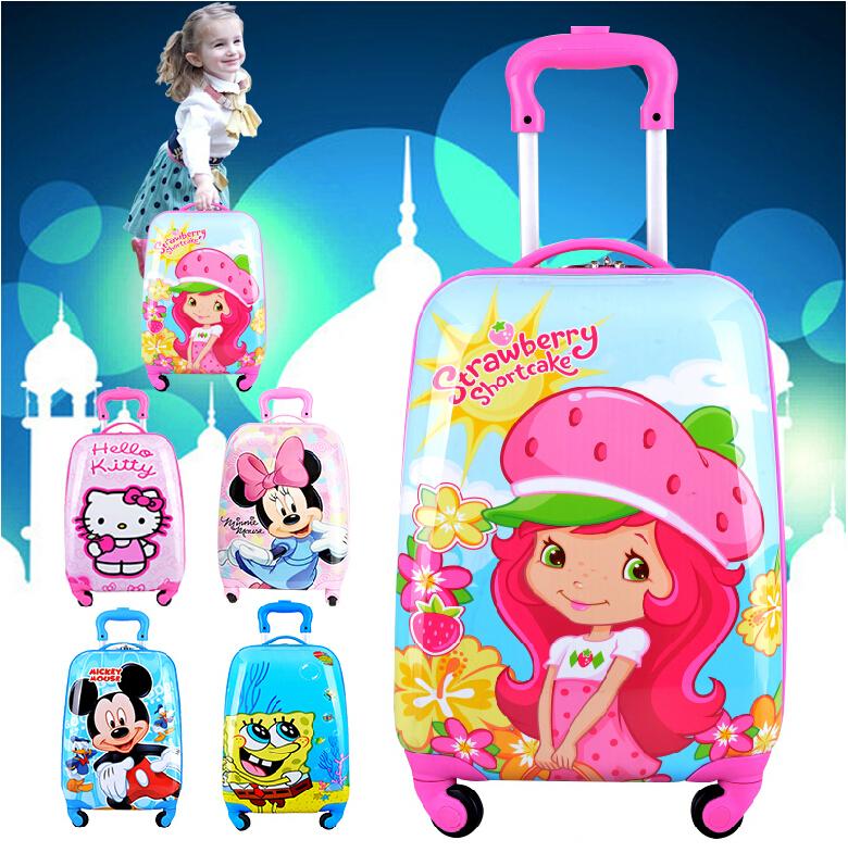 18 Hello kitty, Cute Dora,kt cat cartoon Kid luggage, Child trolley travel luggage<br><br>Aliexpress