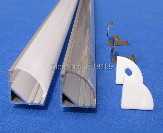 10pc(10m)/pack;1m per piece Aluminum led profile channel for led housing light QC1616A-1M(China (Mainland))
