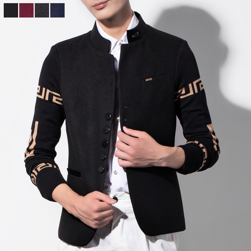 2015-fashion-Korean-mens-blazer-jackets-linen-pattern-jacket-masculino-3XL-young-man-casual ...