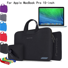 "4-in-1 Slim Neoprene Skin Shockproof Sleeve Carrying Case Briefcase Bag Pouch Cover For Apple MacBook Pro 15/ 15.4"" Laptop"