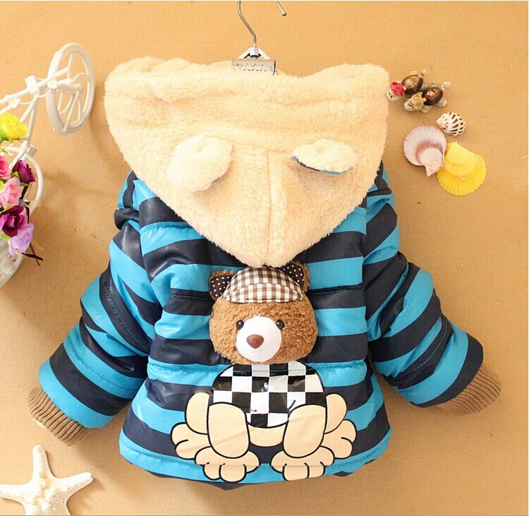 Free shipping 2014 New Winter Baby Clothes Baby Boys Baby Girls  cartoon bear design Outerwear Infant Cartoon Down Coat A308<br><br>Aliexpress
