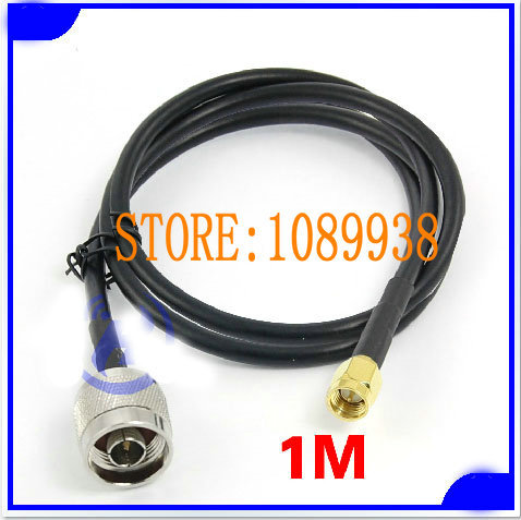 Free Shipping RF antenna calbe 1m 50-3 Extension Wire Cable Cord SMA Male To N Male Plug Antenna Connector(China (Mainland))