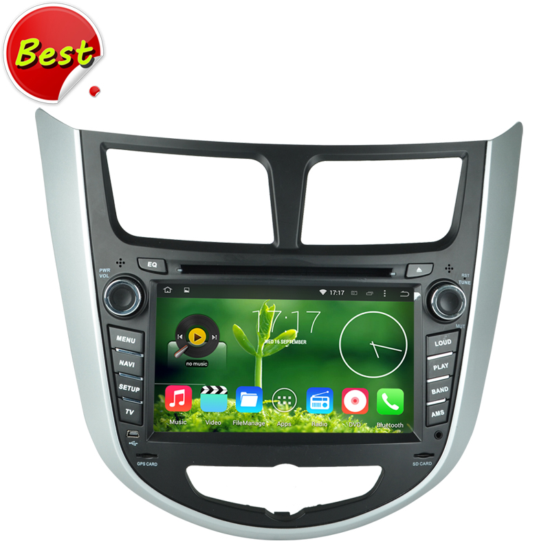 quad core HD 1024*600 Pixels Android 4.4 Car DVD Player for HYUNDAI Verna Accent Solaris 2011 2012 2013 With GPS 3G WiFi OBD DVR(China (Mainland))