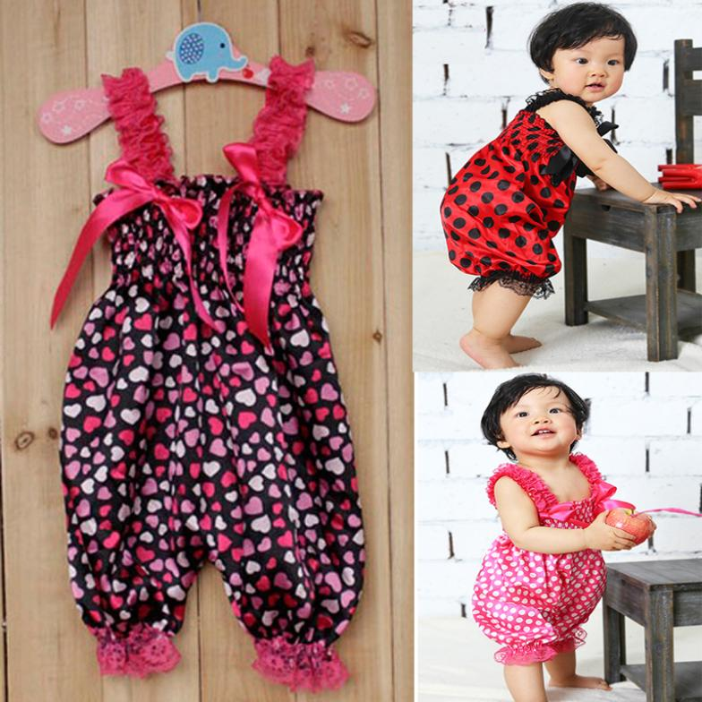Retail Wholesale Cheap, Fashion Hot New Baby Girls Ruffle Rompers Newborn Infants One-Piece Baby Pants(China (Mainland))