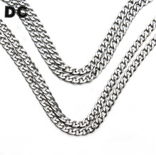 Buy DC 5meter/lot 3/4/5mm Silver Tone Stainless Steel Open Link Chain Bulk Jewelry Chains Necklaces Bracelets Jewelry Making for $8.81 in AliExpress store