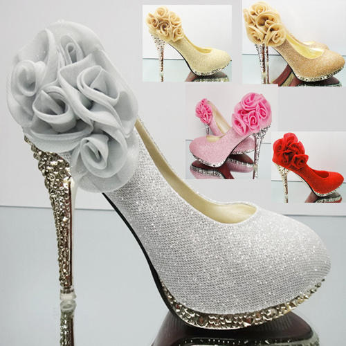 Wedding Bridal Shoes Women 39 S Rhinestone Flower Shoes Wedding Shoes