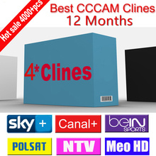 1 Year Europe CCCam with 4 Cline Account for Satellite TV Receiver Sky Sports Sky UK Germany France Canal Italy Spain.etc(China (Mainland))