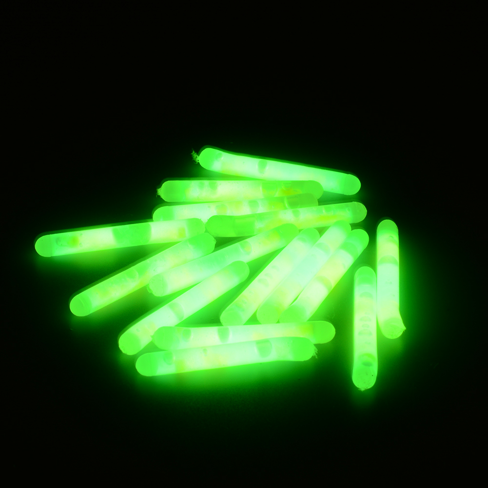 15X Mini Fishing Fish Fluorescent Lightstick Light Night Float Rod Lights Dark Glow Stick Useful free