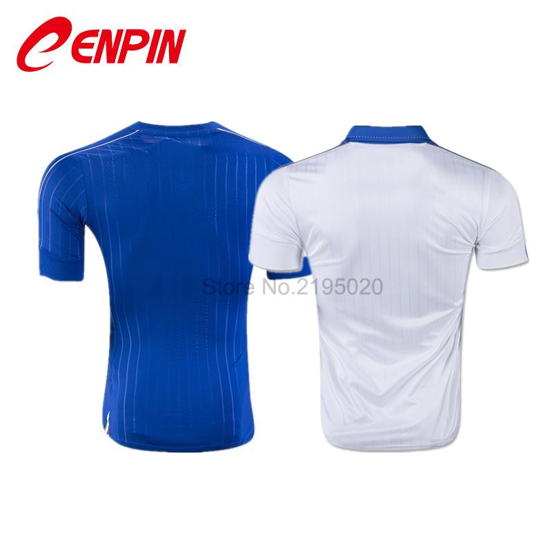 CENPIN Blue Shirts 2016 ITALY SOCCER JERSEY White Camiseta de futbol ITALY 2016 jersey local verde FOOTBALL uniform shirts(China (Mainland))