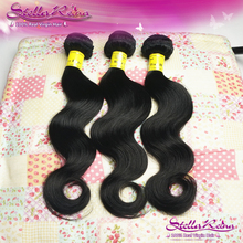 4 Bundles Unprocessed Indian Body Wave,Indian Virgin Hair Body Wave Remy Hair Extension Weave Fast And Free Shipping(China (Mainland))