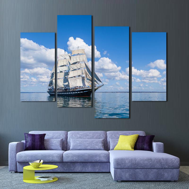 Online kopen wholesale zeilschip art uit china zeilschip art groothandel - Blauwe hemel kamer ...