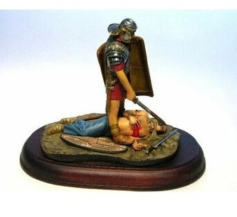 Resin Kits 1/9 Scale Roman legionary soldier 120mm Resin Model DIY TOYS Free Shipping(China (Mainland))