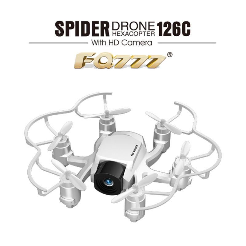 Original FQ777-126C 2.4G 4CH 6 Axis Gyro Headless Mode 360 Degree Eversion With HD Camera FQ777 126C RC Quadcopter Spider Drone(China (Mainland))