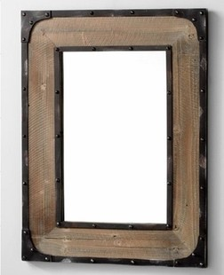 American country furniture, wrought iron frame retro-style dressing mirror idea to do the old wood bathroom mirror mirror Specia(China (Mainland))